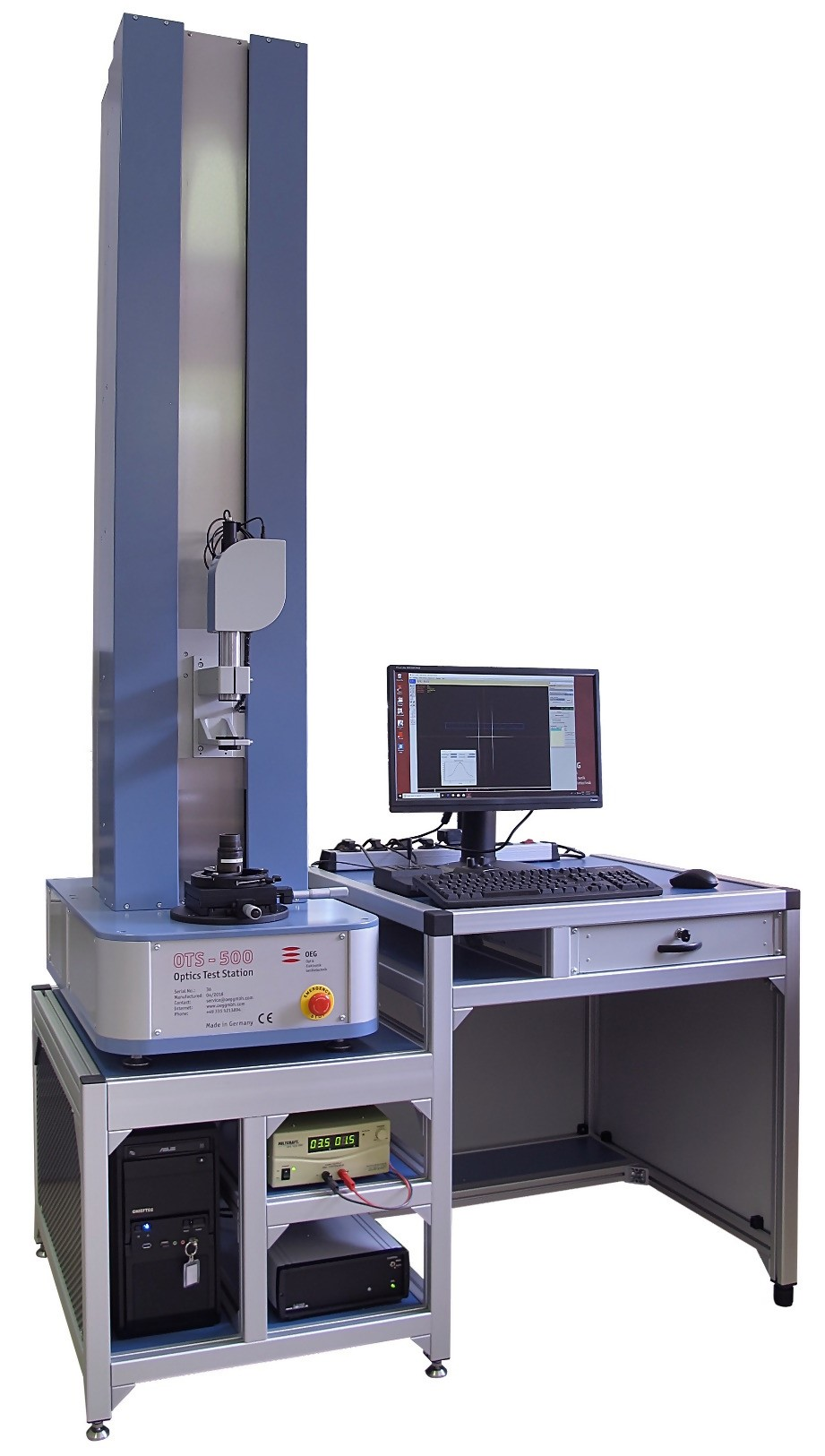 Optics Test Station OTS 200 and OTS 500